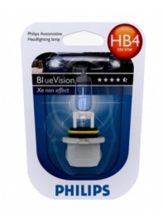 Галогеновая лампа HB4 Philips Blue Vision 9006BV+B1