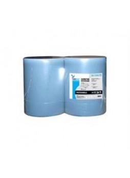 Салфетка протирочная / бумага / голубая / рулон / 2сл. , 35*37 см,1000л, 38 г/м2