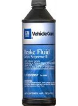"""Жидкость тормозная dot 3, """"BRAKE FLUID"""", 0.473л"""