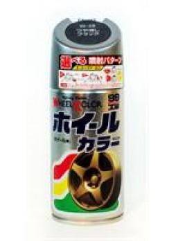 """Краска для дисков """"Wheel color paint"""", черный глянцевый, 300мл Soft99 07539"""