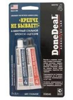 4-минутный стальной эпокси-адгезив «крепче не бывает» (стальной), 60г Done Deal DD6540