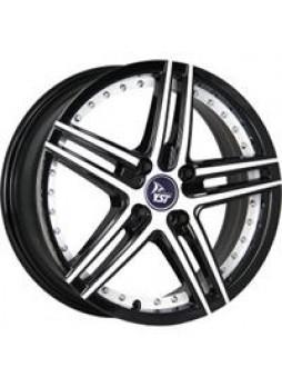 """Диск колёсный литой """"X-1 6.5x16, 4x100, ET52, D54.1, черный+белый+белая полоса по ободу внутри (B+W+WSI)"""""""
