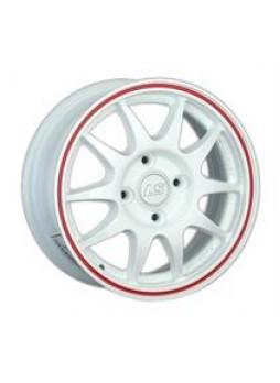 """Диск колёсный литой """"204 7x16, 5x105, ET36, D56.6, белый с красной полосой (WRL)"""""""