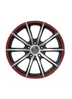"""Диск колёсный литой """"190 7x16, 5x105, ET36, D56.6, черный частично полированный с красной линией по ободу (BKFRL)"""""""