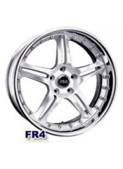 """Диск колёсный литой """"FR4 9x18, 5x120, ET35, D77, серебро + полированная и покрытая оксидной пленкой боковая закраина"""""""