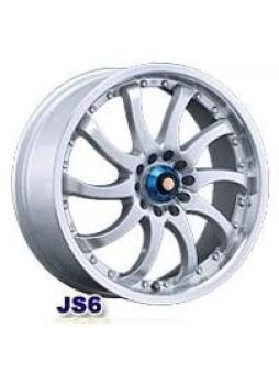 """Диск колёсный литой """"JS6 7x16, 8x114,3, ET48, D73, серебристый с полированным ободом"""""""