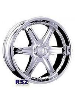 """Диск колёсный литой """"RS2 8x16, 6x139,7, ET20, D111, серебристый с полированным ободом"""""""