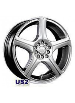 """Диск колёсный литой """"US2 7x15, 5x100, ET38, D73, ртуть"""""""