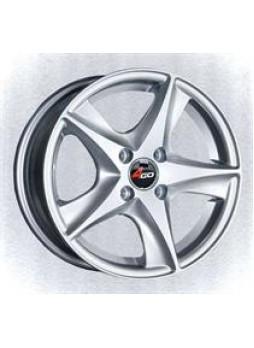 """Диск колёсный литой """"JJ525 6x14, 4x98, ET35, D58.6, серебристый"""""""