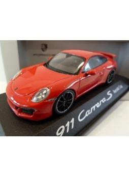 """Модель автомобиля """"Porsche 911 (991) Carrera S Aerokit Cup 1:43"""", красный"""