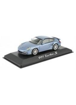 """Модель автомобиля """"Porsche 911 (997) Turbo S 1:43"""", голубой"""