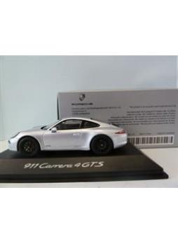 """Модель автомобиля """"Porsche 911 (991) Carrera 4 GT 1:43"""", серебристый"""