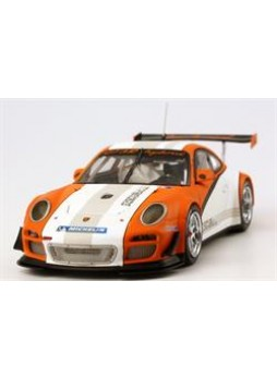 """Модель автомобиля """"Porsche 911 GT3 R Hybrid (997) 1:43"""", оранжевый"""