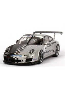 "Модель автомобиля ""Porsche 911 GT3 Cup (997) ""Porsche Design, The Battle"" 2011 Nr.40 1:43"", серебристый"