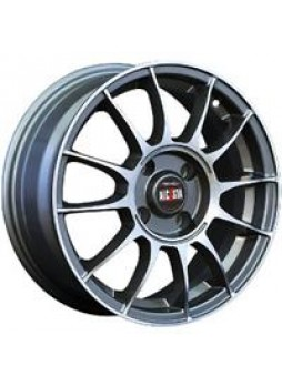 """Диск колёсный литой """"M01 6.5x16, 5x114,3, ET45, D60.1, насыщенный темно-серый полностью полированный (GMF)"""""""