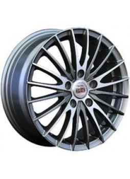 """Диск колёсный литой """"M02 5.5x14, 4x100, ET43, D60.1, насыщенный темно-серый полностью полированный (GMF)"""""""