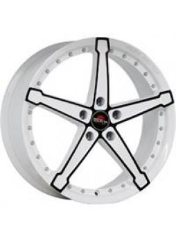 """Диск колёсный литой """"MODEL-10 6x15, 5x105, ET39, D56.6, белый +черный (W+B)"""""""