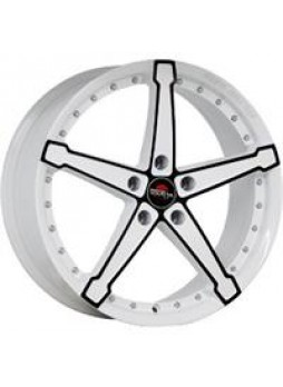 """Диск колёсный литой """"MODEL-10 6x15, 5x112, ET47, D57.1, белый +черный (W+B)"""""""
