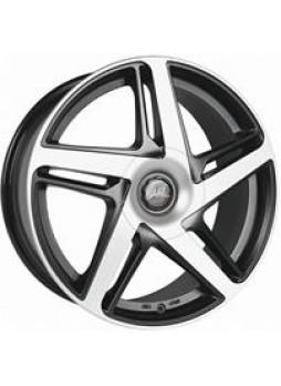 """Диск колёсный литой """"AirBlade 7.5x16, 5x112, ET50, D70.1, черный матовый, полированный (GMF)"""""""