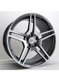 """Диск колёсный литой """"541 9.5x18, 5x112, ET35, D66.6, серый с полированной лицевой поверностью (MG)"""""""