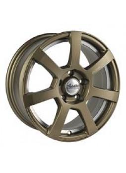 """Диск колёсный литой """"MK512U 7x16, 5x114,3, ET40, D67.1, матовый бронзовый с гравированным логотипом advanti на луче и полированн"""
