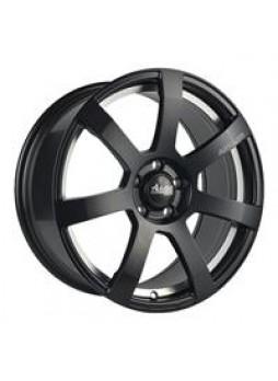 """Диск колёсный литой """"MK512U 6x15, 4x100, ET45, D60.1, матовый чёрный с гравированным логотипом advanti на луче и полированным по"""
