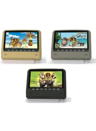Навесной монитор 9 дюймов с DVD на подголовник Ergo ER 9X1D